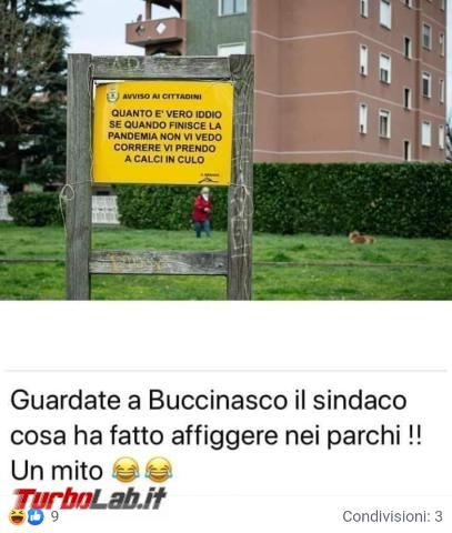 cartello affisso sindaco Buccinasco è bufala - FrShot_1585853375