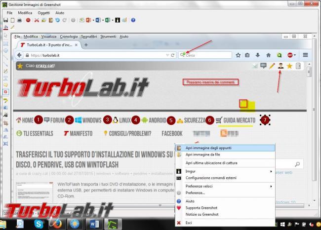 Cattura screenshot desktop Greenshot