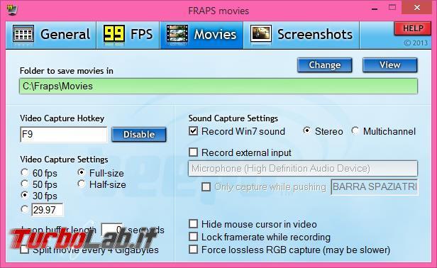 Catturare immagini filmati videogiochi