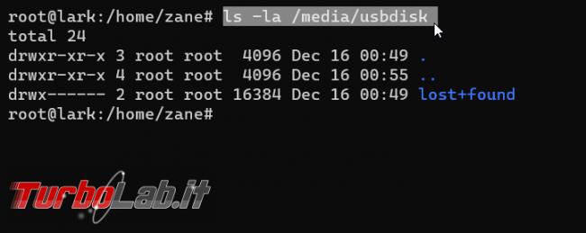 Chiavetta USB disco/SSD esterno Ubuntu linea comando: come accedere, leggere scrivere file (guida rapida mount NTFS, exFAT, ext4)