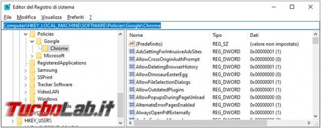 """Chrome messaggio """" browser è gestito organizzazione"""". Cosa vuole dire perché compare?"""