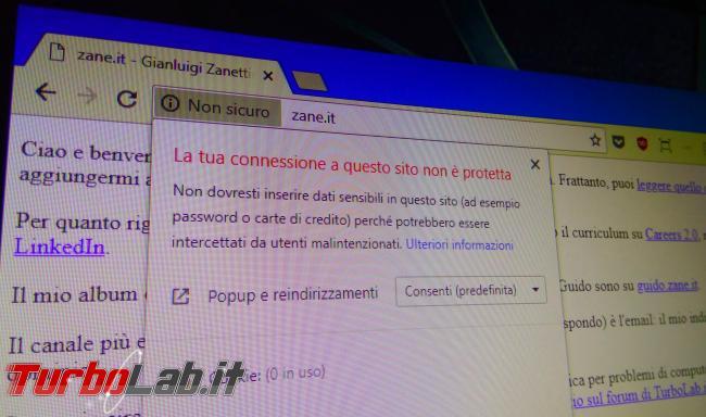 """Chrome segnala sito """"Non sicuro"""": è davvero pericoloso (virus/malware)? Come risolvere """" connessione questo sito non è protetta""""? - IMG_20180724_193227"""