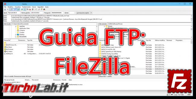 Client FTP (FileZilla), guida rapida - caricare scaricare file server FTP remoto - guida filezilla (14)