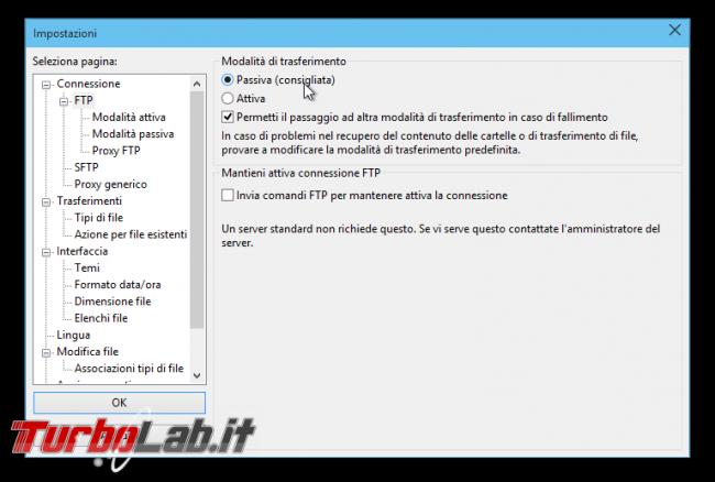 Client FTP (FileZilla), guida rapida - caricare scaricare file server FTP remoto - guida filezilla (7)