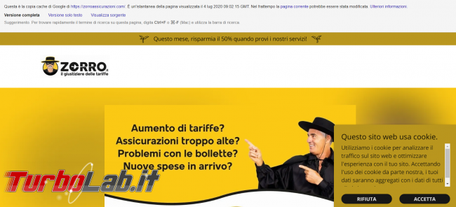 Clonato portale assicurazioni Zorro.it - FrShot_1594112280