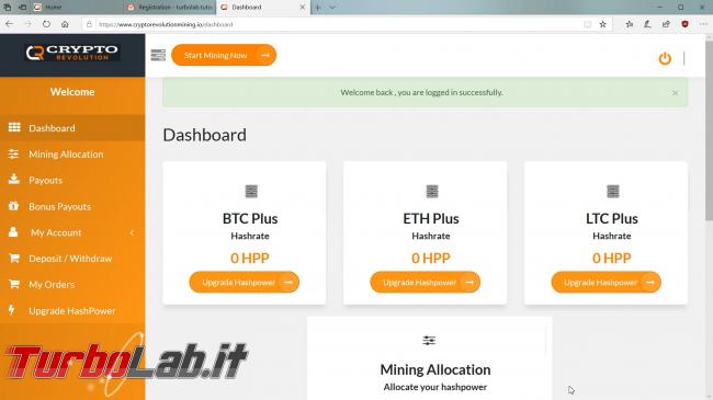 Cloud mining cos'è: video-guida completa iniziare subito (Bitcoin, Ethereum, Litecoin)