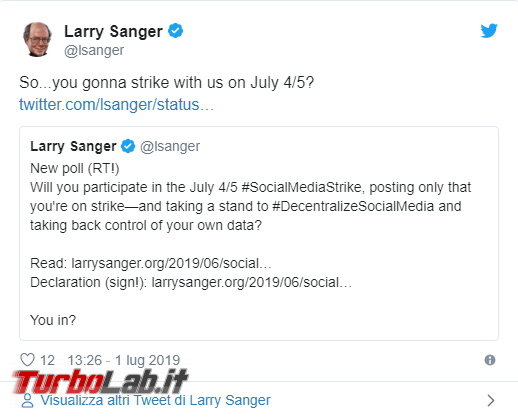 co-fondatore Wikipedia annuncia sciopero social network - Annotazione 2019-07-02 160246