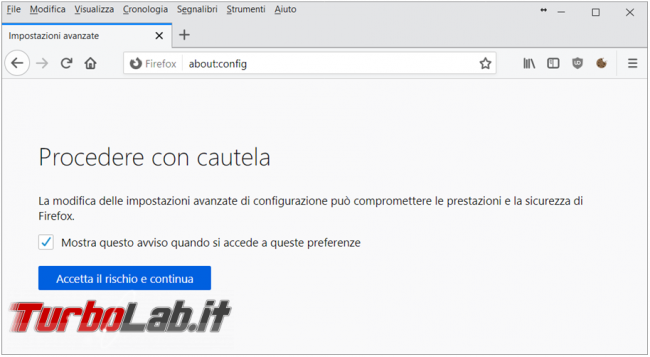 Come abilitare Firefox bloccare siti http reindirizzarli https, quando disponibile, l'estensione https everywhere