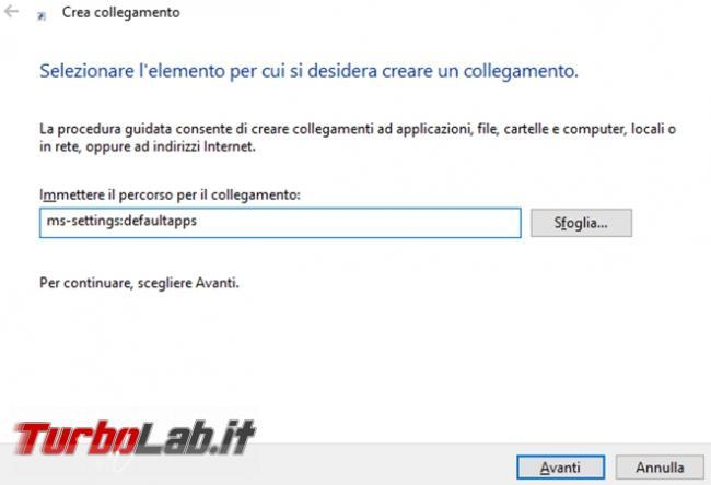 Come accedere impostazioni Windows 10, tramite specifico URI, riga comando collegamento