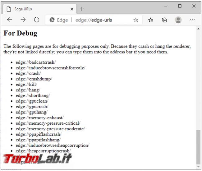Come accedere pagine nascoste configurazione Chrome, Firefox Microsoft Edge