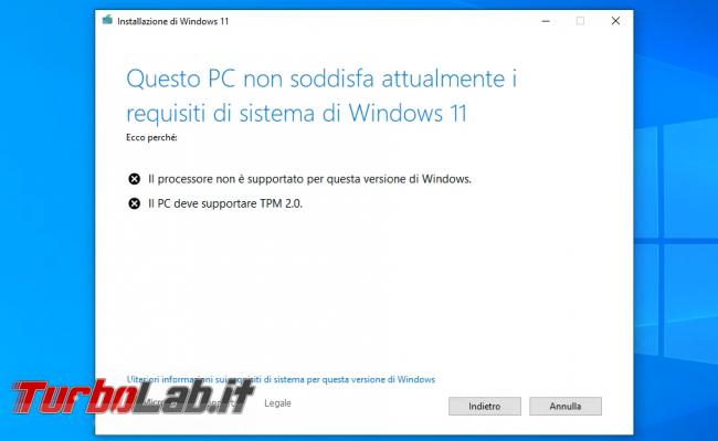 Come aggiornare Windows 11 PC Windows 10 non-compatibile (risolvere errore Questo PC non soddisfa attualmente requisiti sistema Windows 11) (video) - sshot_ext_1633253938