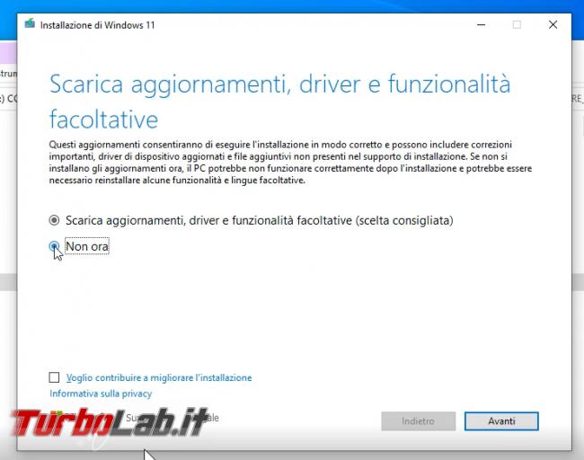 Come aggiornare Windows 11 PC Windows 10 non-compatibile (risolvere errore Questo PC non soddisfa attualmente requisiti sistema Windows 11) (video) - sshot_ext_1633256675
