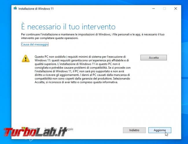 Come aggiornare Windows 11 PC Windows 10 non-compatibile (risolvere errore Questo PC non soddisfa attualmente requisiti sistema Windows 11) (video) - sshot_ext_1633256778