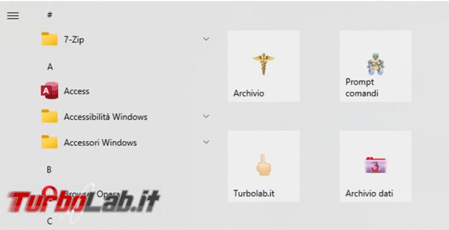 Come aggiungere collegamenti più ci servono menu start