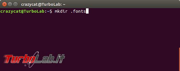 Come aggiungere nuovi font Ubuntu