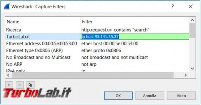 Come analizzare traffico rete Wireshark scoprire connessioni sospette indirizzi non sicuri
