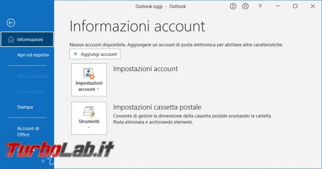 Come aprire archivio posta PST senza avere account configurato Outlook