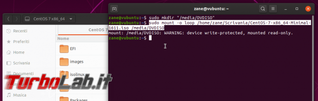 Come aprire (montare) 'immagine ISO Ubuntu linea comando interfaccia grafica (DVD virtuale, guida )