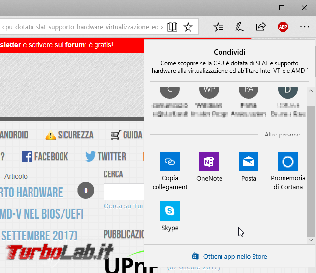 """Come aprire PC Windows 10 pagina web visualizzata smartphone Android (""""Continua PC"""")"""