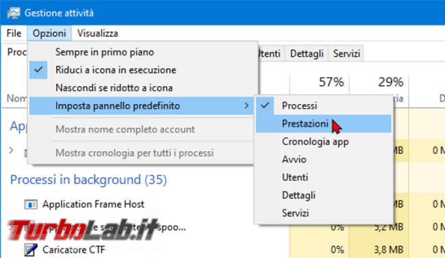 Come aprire Task manager Prestazioni Dettagli Windows 10 - zShotVM_1552730686