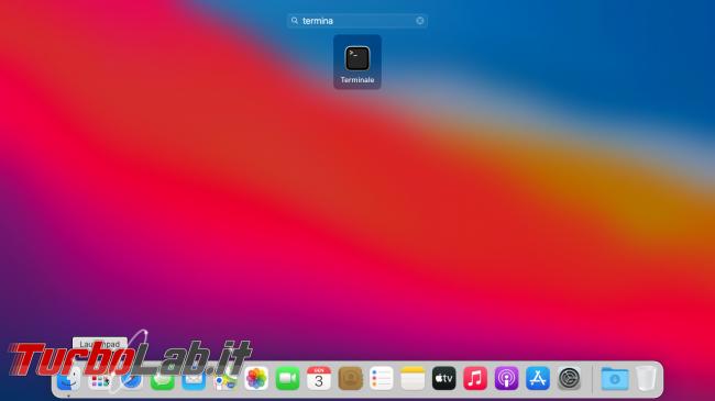Come aprire Terminale/Prompt comandi Mac (macOS 11 Big Sur)
