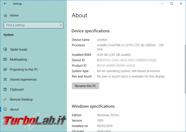 Come aprire video HEVC / H.265 Windows 10 (download codec MP4/MKV, errore elemento è stato codificato formato non supportato) - Mobile_zShot_1574202904