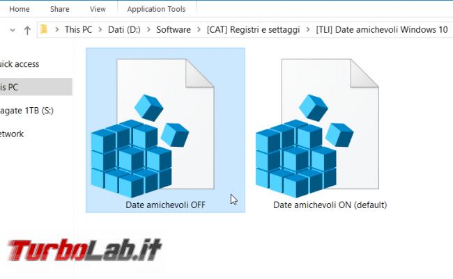 Come attivare / disattivare date amichevoli (ieri, oggi, 5 minuti fa) Windows 10 (Esplora file Friendly Dates )