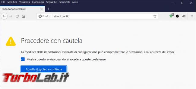 Come attivare/disattivare SkeletonUI Firefox 89