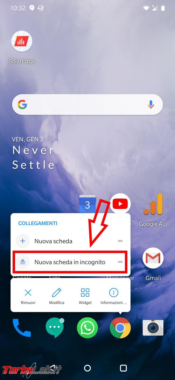 Come attivare navigazione incognito Google Chrome Android - Screenshot_20200103-103252