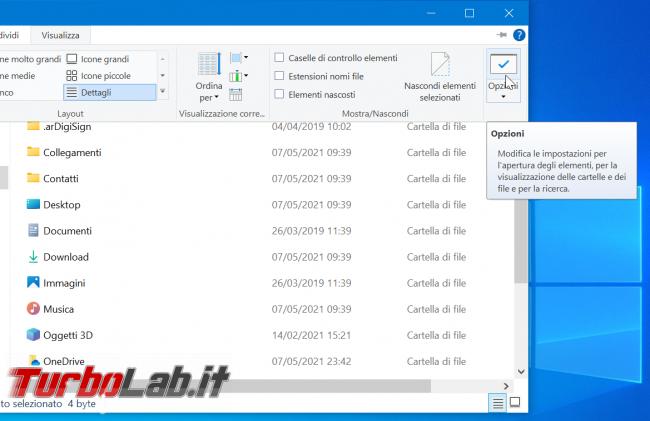 Come attivare Visualizzazione compatta Esplora file Windows 10 ridurre padding - zShotVM_1620482375
