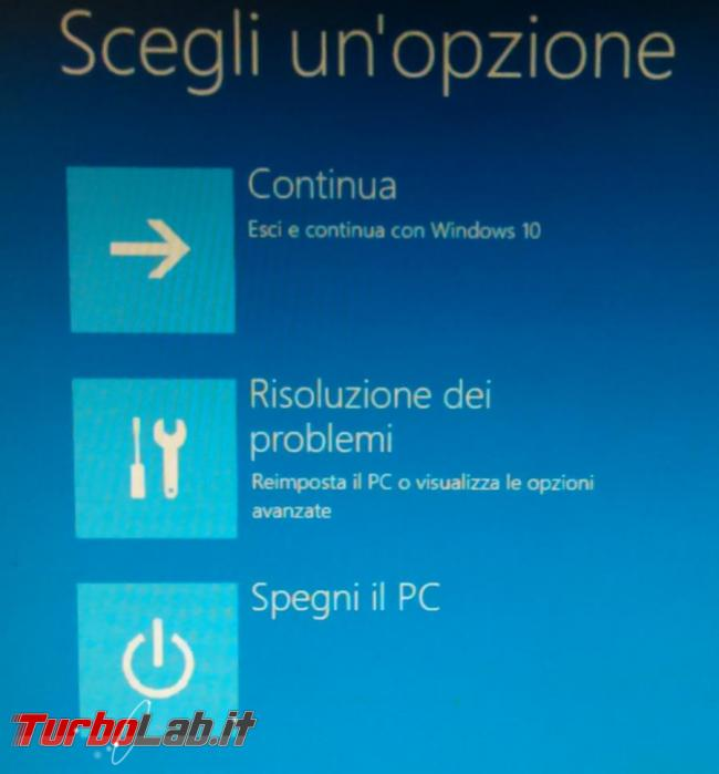 Come avviare computer modalità provvisoria Windows 10