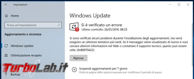 Come bloccare aggiornamenti automatici Windows 10 (disattivare Windows Update)