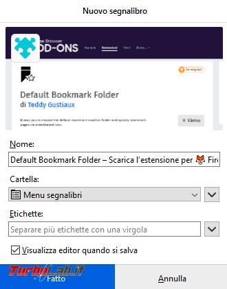Come cambiare cartella default salvataggio preferiti Firefox