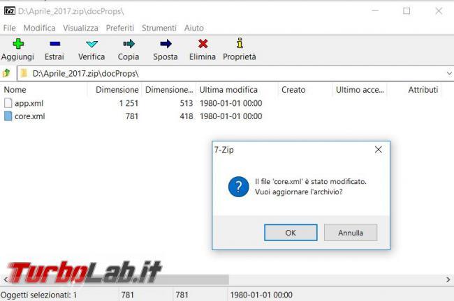 Come cambiare data creazione, modifica ultimo accesso documento Office