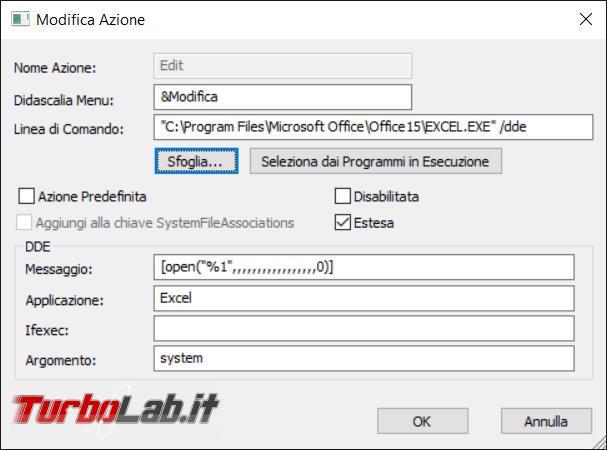Come cambiare l'icona associata tipo file senza modificare programma predefinito