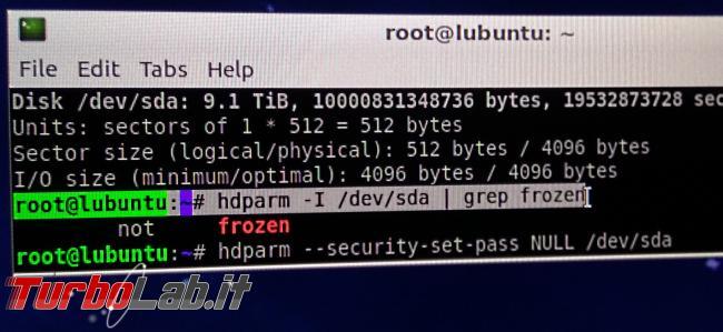 Come cancellare definitivamente hard disk / SSD: metodo sicuro veloce comando ATA (guida hdparm)