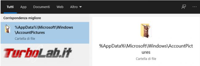 Come cancellare immagini utilizzate personalizzare l'account Windows