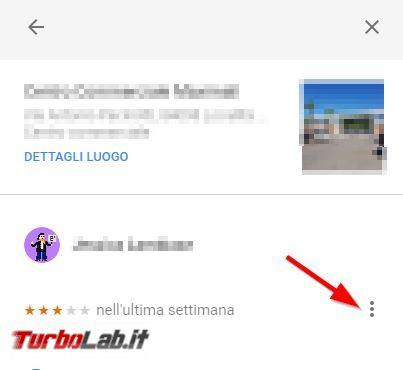 Come cancellare proprie recensioni valutazioni Google