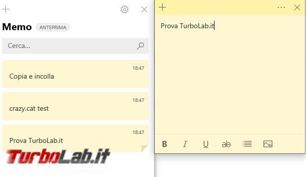 Come cancellare, salvare ripristinare memo (sticky notes) Windows 10