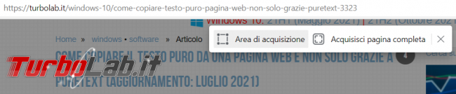 Come catturare l'immagine pagina web completa Firefox, Chrome Edge