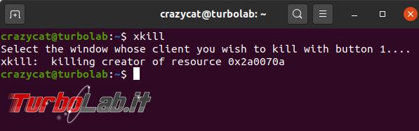 Come chiudere programma bloccato Ubuntu
