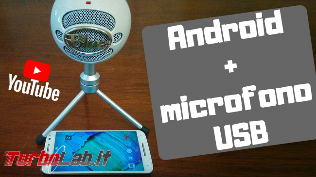 Come collegare microfono USB smartphone Android registrare video fotocamera audio microfono esterno (video-guida) - Android+microfono USB