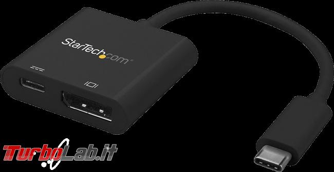 Come collegare PC portatile porta USB Type-C schermo esterno, proiettore TV: migliori cavi adattatori (video-guida) - adattatore USB Type-C displayport