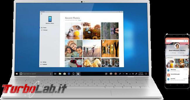 Come collegare PC Windows 10 telefono (smartphone) Android: guida rapida Microsoft Apps - your phone spotlight