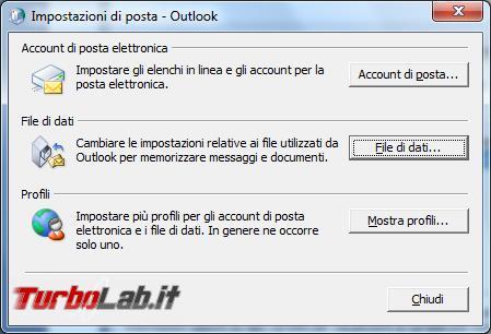 Come compattare archivi posta Microsoft Outlook ridurne dimensioni