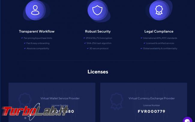 Come comprare Bitcoin, Ethereum altre criptovalute carta credito 2020: video-guida Switchere (alternativa facile Coinbase) - 01_switchhere_licenses