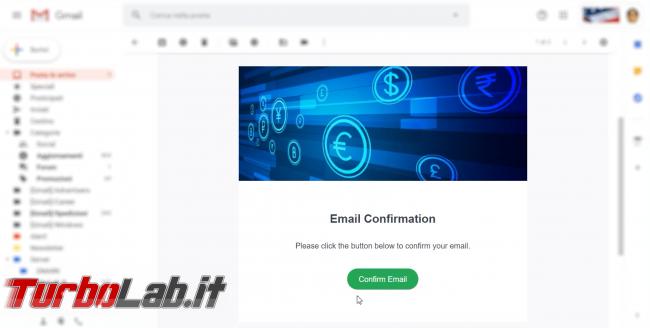 Come comprare Bitcoin, Ethereum altre criptovalute carta credito 2020: video-guida Switchere (alternativa facile Coinbase) - 30_switchere_email activation