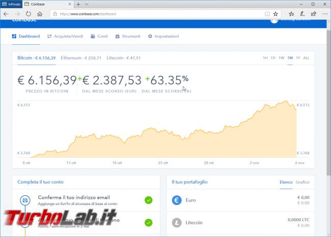 Come comprare Bitcoin, Ethereum, Litecoin senza commissioni sicurezza: video guida investire criptovalute Coinbase