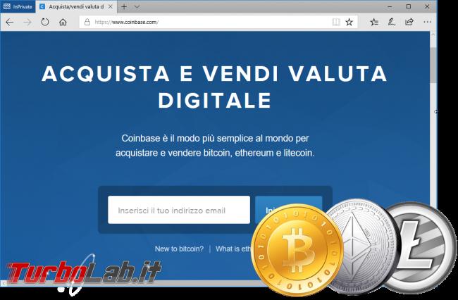 Come comprare Bitcoin, Ethereum, Litecoin senza commissioni sicurezza: video guida investire criptovalute Coinbase - acquistare bitcoin