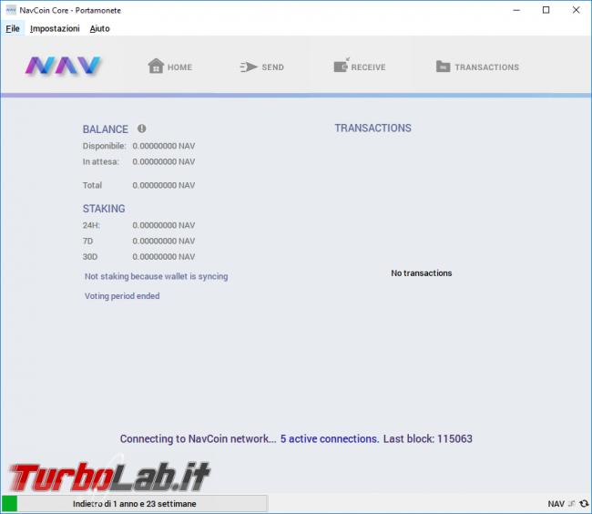 Come comprare NAV Coin guadagnare quando lasciamo acceso PC: guida completa NAV Coin Core (wallet)
